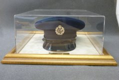 Acrylic Display Case, featuring hat